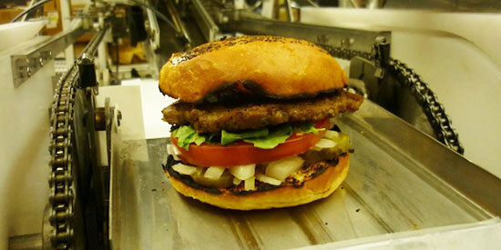 Momentum Machines says it has built a robot that can produce up to 400 completed burgers per hour.