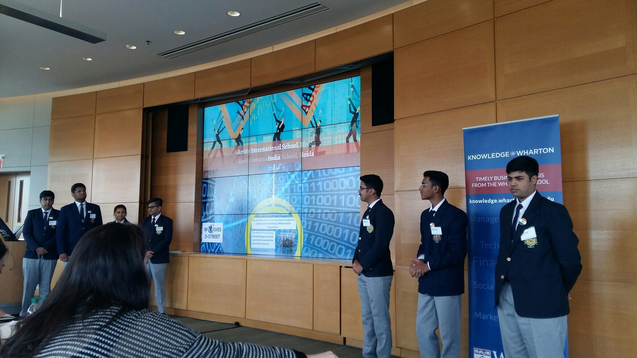 Members of the Wolves of D-Street present their final strategy during last year's Global Regions finale at Wharton.